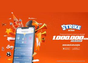 Strike by Betano – înscrie-te azi și intră în cursa pentru 1.000.000 lei!
