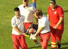 Prima reacție a lui Marius Avram după accidentare » Când va reveni pe teren și de ce a fost scos pe targă