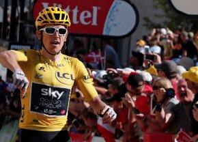 Primul tricou galben DIN ISTORIE câștigător pe Alpe D'Huez! Geraint Thomas a făcut o cursă incredibilă pe cea mai tare cățărare din ciclism!