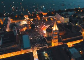 VIDEO Imagini absolut FABULOASE din Zadar » Croații au avut o primire demnă de Game of Thrones