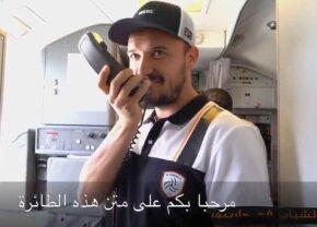 VIDEO Faza zilei! Budescu a luat cuvântul în avionul lui Al Shabab » Le-a vorbit saudiților în limba română :)