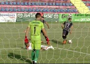 VIDEO + FOTO Fază controversată în debutul meciului dintre Hermannstadt și Sepsi » Decizie fără dubii a lui Ovidiu Hațegan