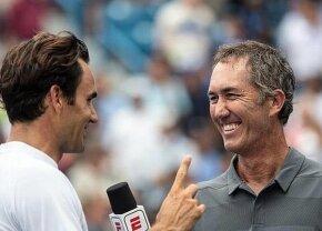 """VIDEO Replica genială dată de Darren Cahill lui Roger Federer, după ce elvețianul a comis-o la interviu: """"Avem 5 copii împreună"""" :D"""