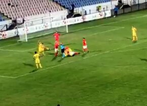 VIDEO Accident teribil la Regions Cup! Un fotbalist a ajuns la spital după o ciocnire violentă cu un român