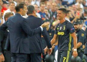 FOTO Moment incredibil în Valencia - Juventus! Ronaldo a fost eliminat și a părăsit terenul în lacrimi