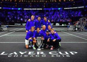 VIDEO + FOTO Echipa Europei a câștigat din nou Laver Cup » Federer și Djokovic au făcut show la petrecere