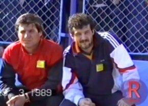 """VIDEO Ca la 30 de ani » Imagini GENIALE cu Gigi și Victor Becali în '89, la prima lor apariție în anturajul """"naționalei"""" :D"""