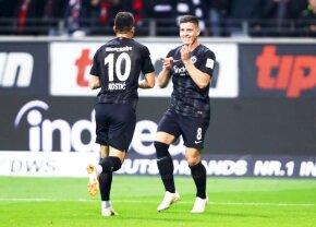 """FOTO Neverosimil! Luka Jovic, posibil adversar al României U21, a marcat 5 goluri într-un meci de Bundesliga » Reușite din """"Foarfecă"""", cu stângul, dreptul și capul"""