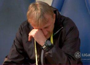 VIDEO Imagini zguduitoare în direct de la Farul - FC Argeș: Emil Săndoi, devastat pe bancă