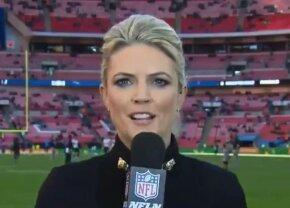 VIDEO A pățit-o în direct! Transmitea informații despre meci când s-a întâmplat asta: suporterii au amuțit