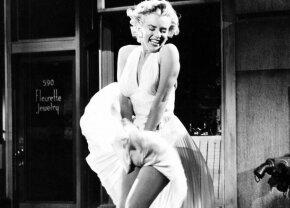 FOTO A pățit-o ca Marilyn Monroe » Un fotomodel a rămas cu rochița în vânt în plină stradă