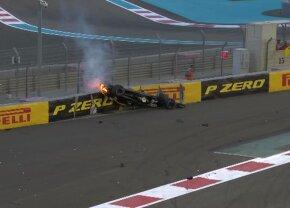 FOTO Accident ÎNSPĂIMÂNTĂTOR în Marele Premiu de la Abu Dhabi: mașina lui a zburat și a luat foc » În ce stare e pilotul