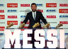 """Messi a câștigat pentru a 5-a oară Gheata de Aur: """"Nu speram să mi se întâmple toate aceste lucruri minunate"""" + l-a depășit pe Cristiano"""