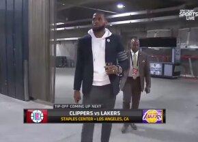 VIDEO LeBron James a venit cu paharul cu vin la meciul lui Lakers :D» 3 momente geniale petrecute sâmbătă în NBA
