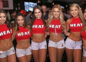 VIDEO + FOTO Ele sunt fetele care ÎNCING atmosfera la Miami Heat! Ce au făcut la ultimul meci a fost FABULOS