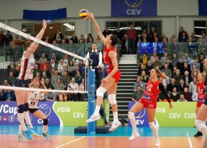 Știința Bacău, victorie în CEV Cup în fața campioanei Cehiei, scor 3-2
