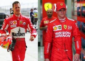 VIDEO + FOTO Imaginile zilei: Schumacher, din nou la Ferrari! Mick, fiul lui Michael, mai rapid decât Ricciardo la Bahrain