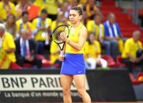 """FRANȚA - ROMÂNIA, FED CUP // VIDEO Simona Halep, emoționată după victoria cu Mladenovic: """"A fost greu să mă controlez!"""""""
