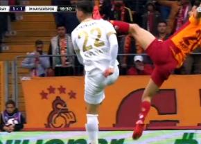 GALATASARAY - KAYSERISPOR 3-1 // VIDEO ȘOCANT! Atac de kung-fu la Cristi Săpunaru » A fost lovit cu gheata-n cap după o intrare teribilă!