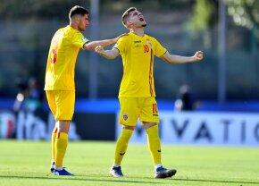 """România U21 - Croația U21 // FOTO Emoționant! Gestul care nu s-a văzut la TV, după ce Ianis a marcat la fix 25 de ani de la """"bijuteria"""" lui Hagi cu Columbia"""