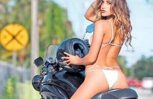 FOTO SUPER HOT Cea mai sexy motociclistă » Anna are 27 de ani și știe să încingă motoarele