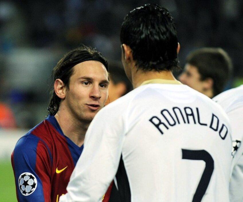 Lionel Messi şi Cristiano Ronaldo, înainte de a se duela în Primera