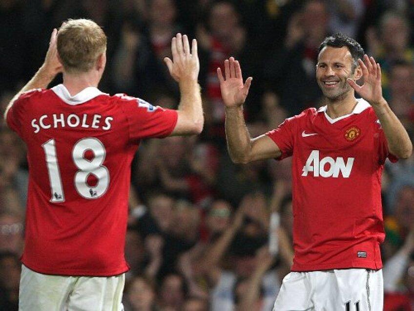 Veteranii lui Manchester United continuă să impresioneze şi în acest sezon