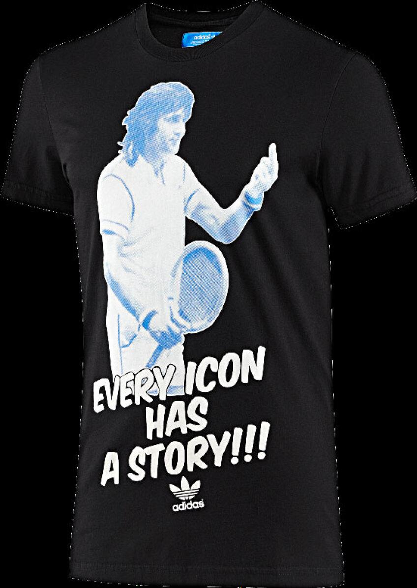 Tricoul creat special de Adidas pentru Ilie Nastase poate fi achizitionat la pretul de 116 lei