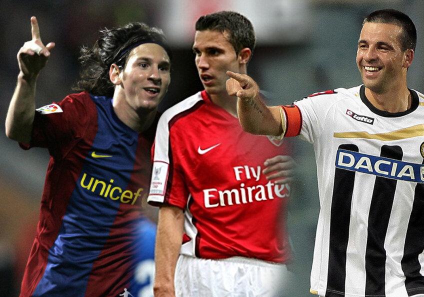 Messi, Van Persie şi Di Natale sînt trei dintre atacanţii importanţi ai Europei