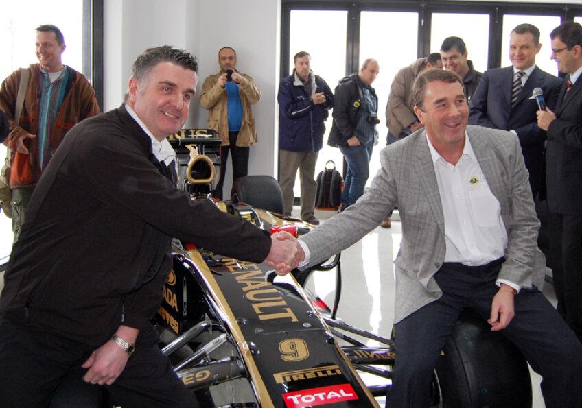 Piloţii de Formula 1 Nigel Mansell şi Martin Donnelly au participat la Bucureşti, la deschiderea oficială a showroom-ului Lotus în România