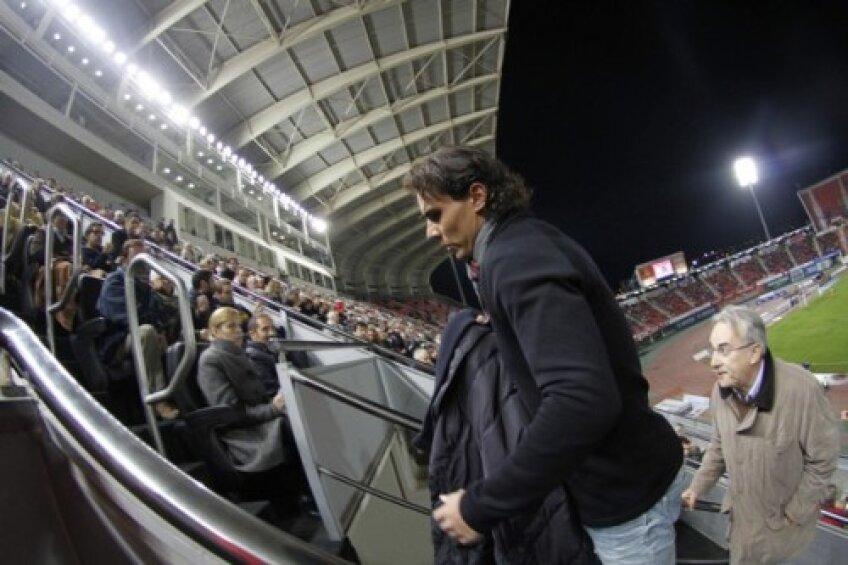 Rafael Nadal a mers la meciul Barcelonei Foto: Reuters