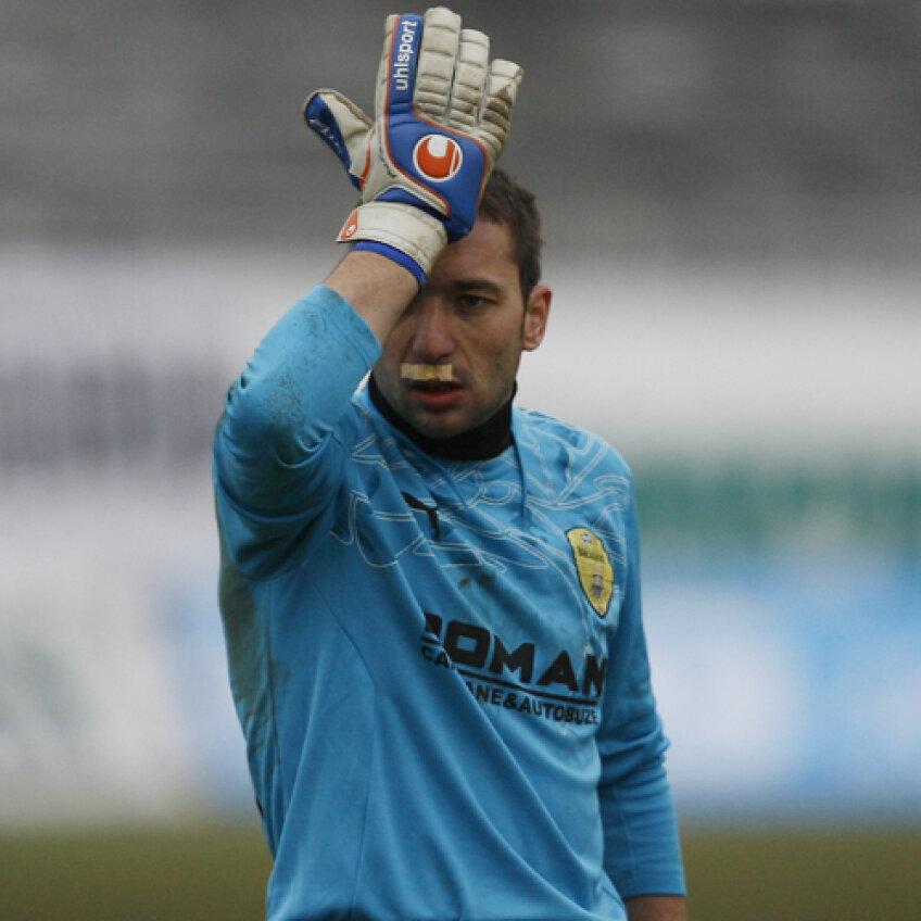 Portarul Braşovului, Marc, a rămas cu buza umflată după meciul de la Cluj