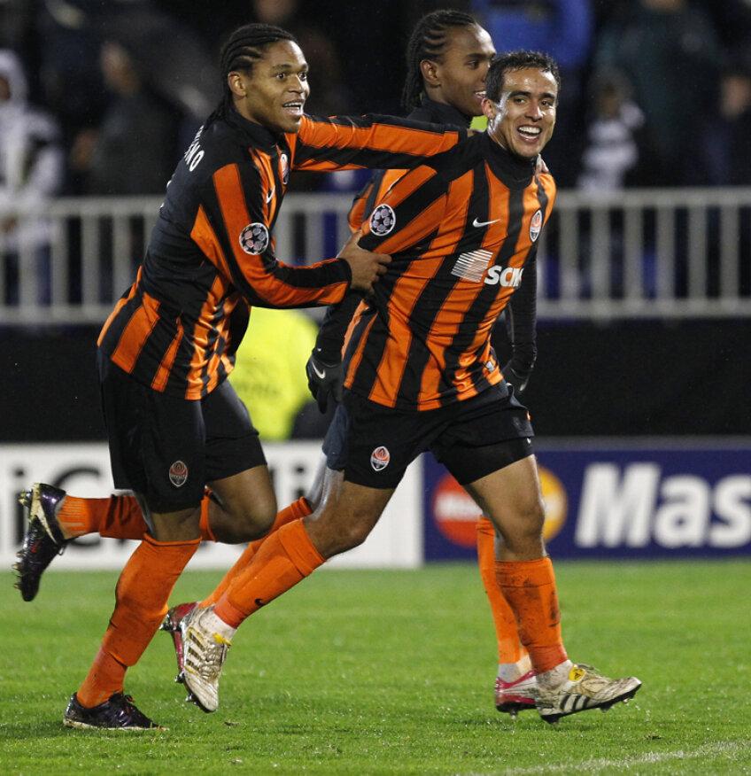 Trei dintre brazilienii-minune ai lui Lucescu: Luiz Adriano, Jadson şi Willian