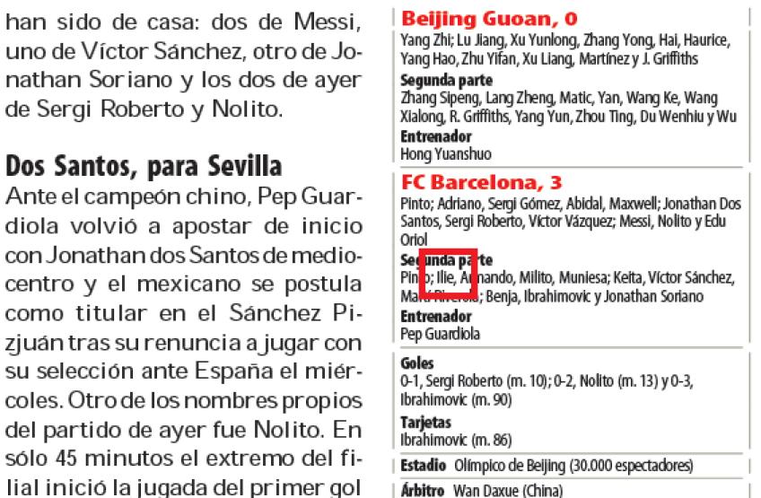 Caseta primului meci al lui...Ilie la echipa mare a celor de la FC Barcelona