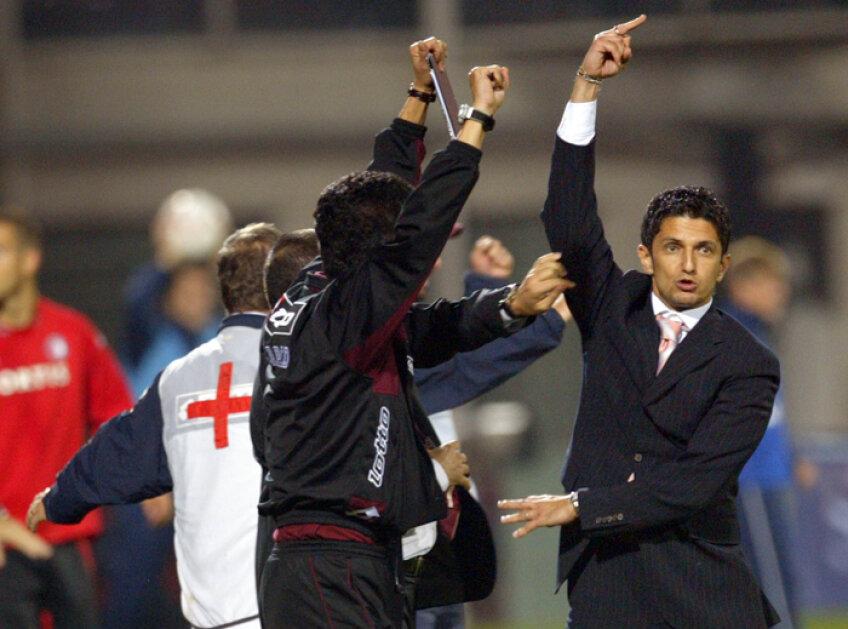 Răzvan Lucescu a ridicat degetul către tribuna oficială în 2005, apoi a părăsit stadionul fără să mai ajungă la conferinţa de presă