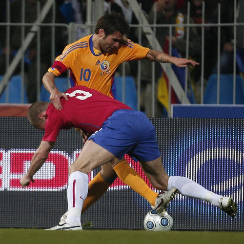 Mutu a fost căpitan cu Serbia (2-3), la Constanța, în martie 2009