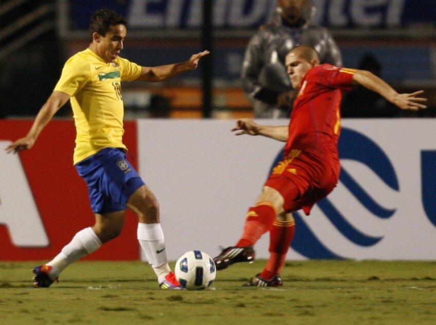 Alex Bourceanu n-a arătat nici o emoţie în faţa starurilor braziliene