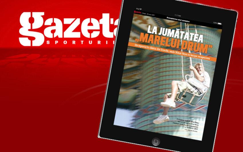 Pagina de iPad a Gazetei Sportrurilor