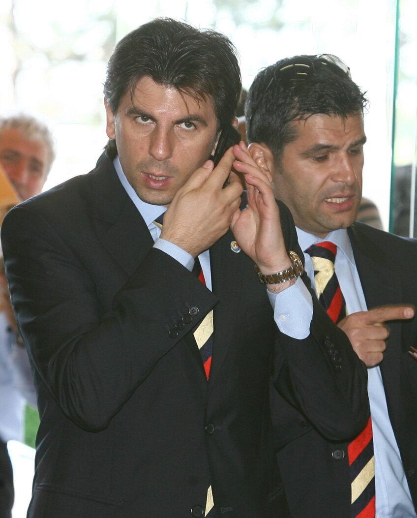 Ionuţ Lupescu, director general FRF, şi Cristi Iancu, director SEG, firma care se ocupă de marketingul federaţiei