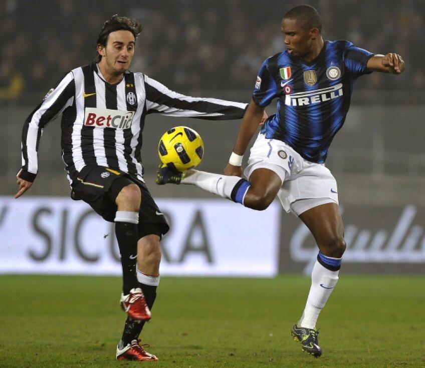 Eto'o e la Inter din 2009, cînd a venit după 5 stagiuni petrecute la Barcelona Foto: Reuters
