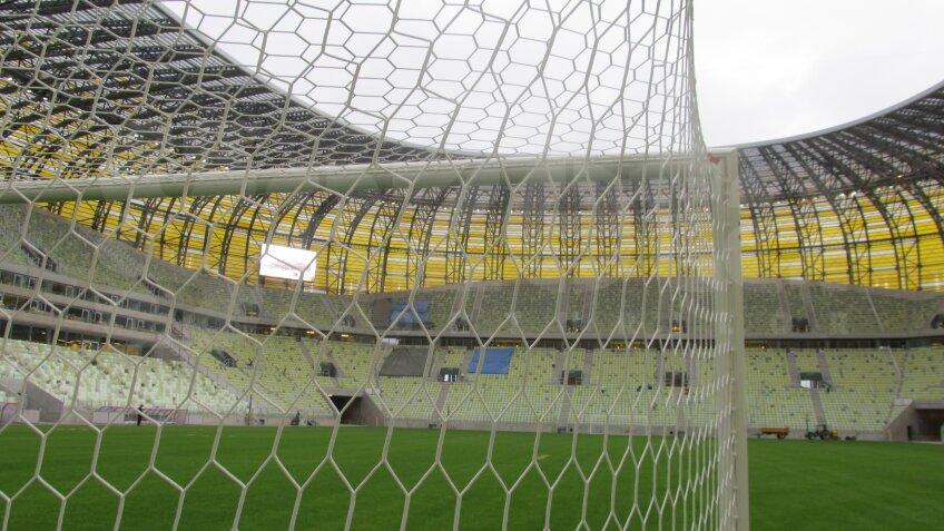 PGE Arena a fost conceput ca un fel de omagiu sau reclamă gigantică pentru industria de prelucrare a chihlimbarului