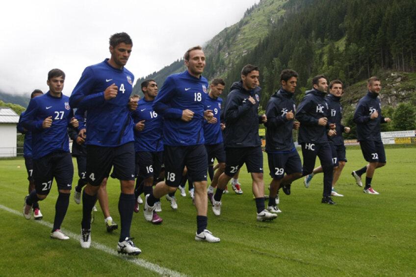 Steliştii au făcut astăzi primul antrenament în Austria