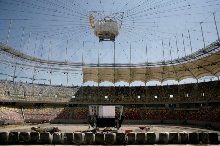 Interiorul stadionului National Arena