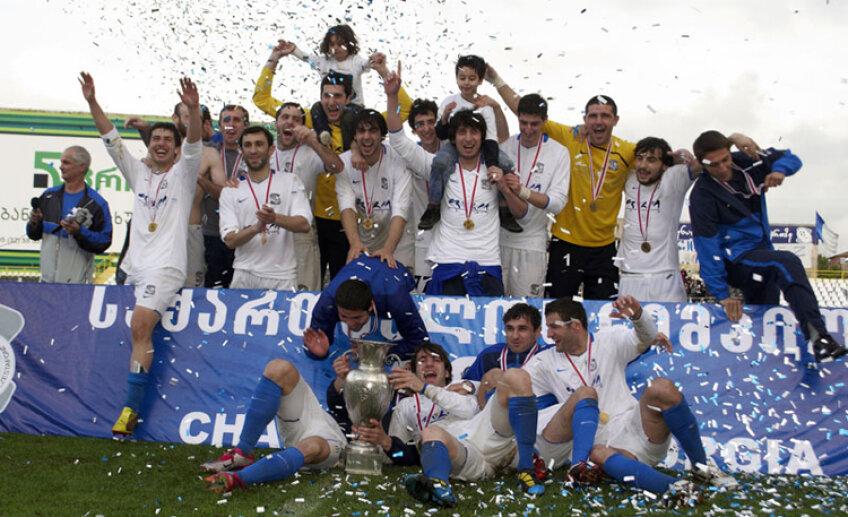 Zestafoni a cîştigat titlul în premieră în Georgia, cu un avans de şase puncte în faţa lui Dinamo Tbilisi
