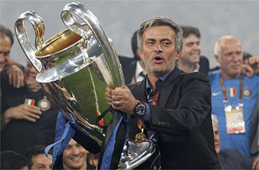 Jose Mourinho a cîştigat două Ligi ale Campionilor, una cu Porto şi una cu Inter