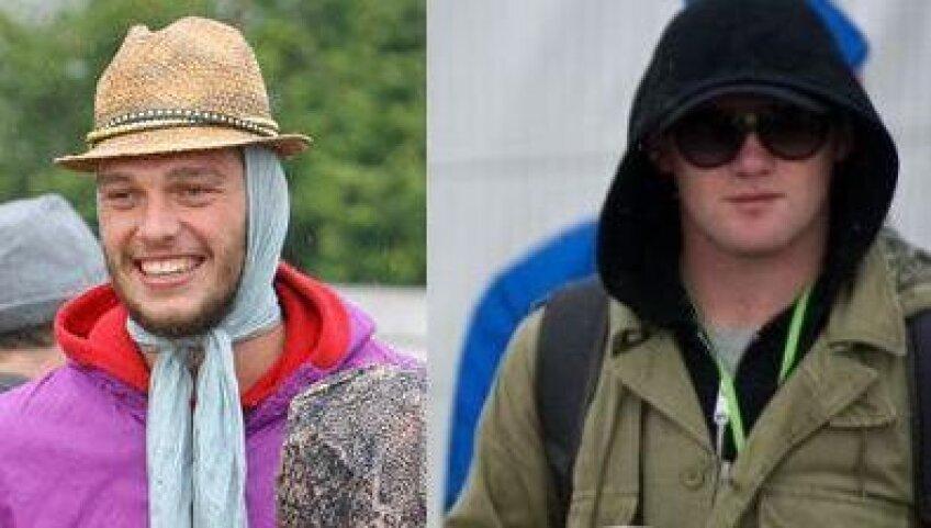 Andy Caroll şi Wayne Rooney
