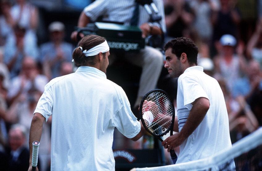 Pete Sampras si Roger Federer  Foto: Getty
