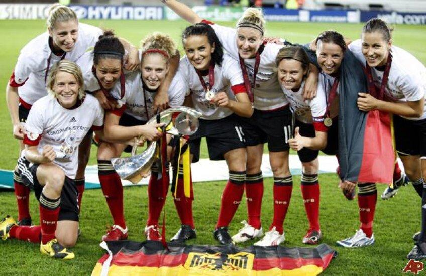 Echipa naţională de fotbal feminin a Germaniei este campioană mondială en-titre