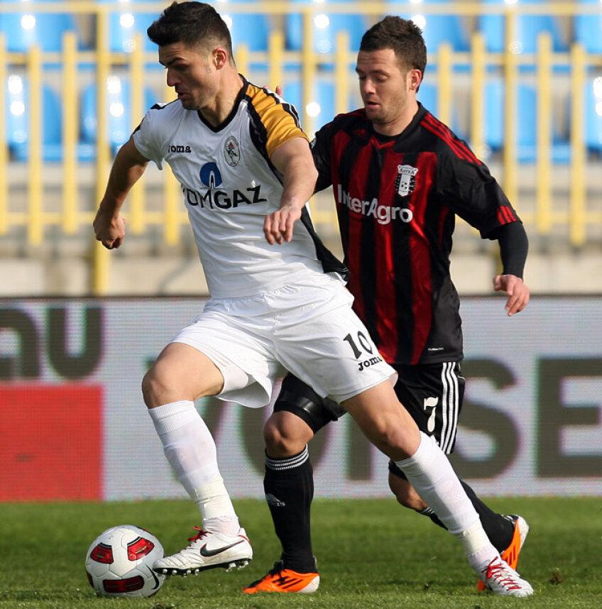 Florin Bratu a marcat un gol pentru Gaz Metan în amicalul cu Pecs