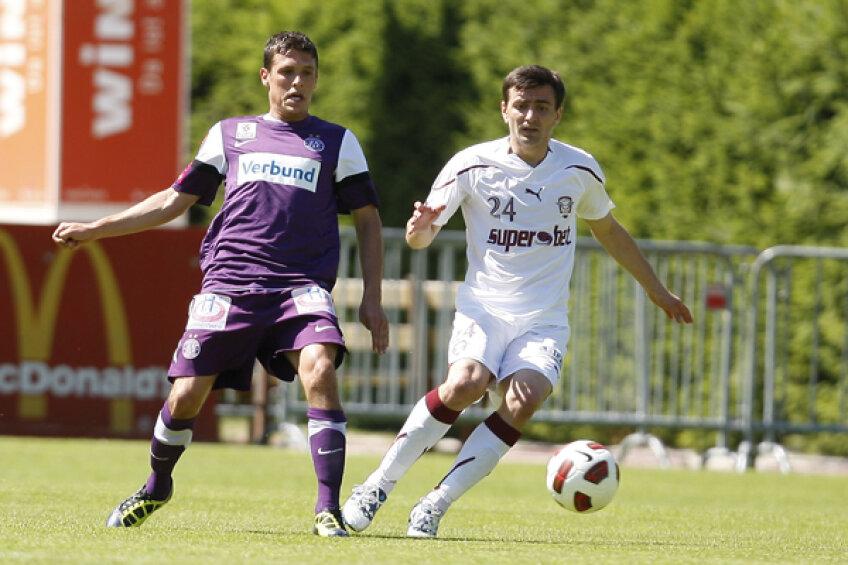 Romeo Surdu a făcut un meci foarte bun ieri, împotriva Austriei Viena